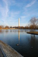 Lake by the Monument by adamsk8