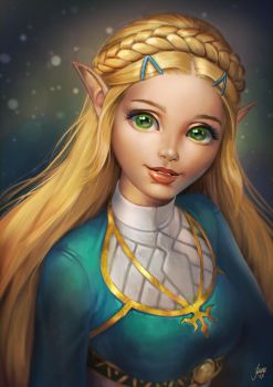 Princess Zelda by JuneJenssen