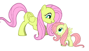 Fluttershy And Her Baby by jeffthekiller12