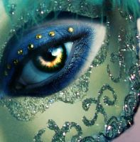 Golden Eyes, Tarnished Mask by BloodyRiley