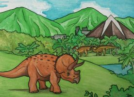 Jurassic World - Triceratops Territory by halfpennyro04