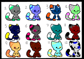 Chibi Cat Adoptables! 4pts or draw to adopt! by DailyAdoptables