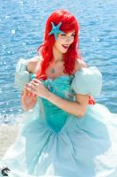 Her Voice (Ariel Blue Ballgown) by woot859
