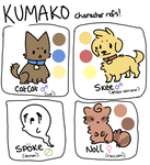 more kuma refs by tsubukichi
