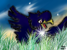 Murkrow by YoruChao14