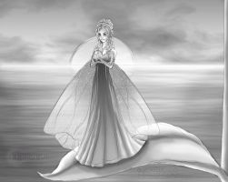 Fairy by the Ocean Sketch by FlyingPony