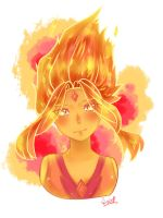 Flame Princess Headshot by Kawaii-SoupBowl
