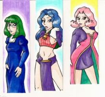 Azure Dreams Bookmarks by the-punk-hippie