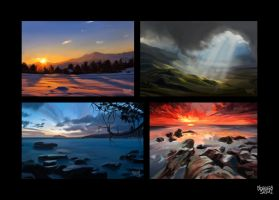 Backgrounds exercises by LorenzoSabia