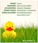 ID: Rubber Duck by Claire-stamps