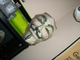 Guy Fawkes Mask Papercraft by trebory6