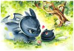 Bright Eyes and Toothless by Naschi