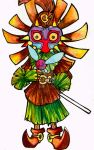 SkullKid Watecolors by LaraVell