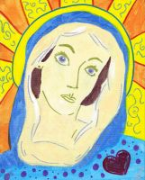 mother mary by Lucora