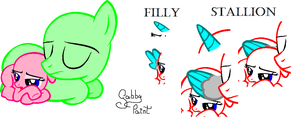 Filly and Stallion .:Sleeping:. Base by GabbyPaint-PonyBases