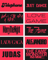 Lady Gaga Fonts by BMaraj