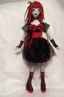 Red Goth Girl by dollmaker88