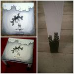 Hand painted table 'Devolution' by Fallmusic