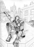 Deathstroke (Pencil) by ForTuchanka