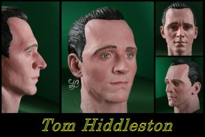 Tom Hiddleston (Loki) - sculpture by Lenka-Slukova
