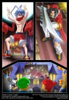 Commission - Battle in Laharls Castle by zeth3047