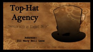 Top Hat Business Card by MadCheshireFox