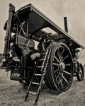 Steam Tractor and Passengers by albammo