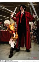 Hellsing Cosplay: Alucard and Seras: AAC 2012 by Redustrial-Ruin