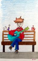 : ~ Park Bench Performer ~ : by dreamsofjelly2001