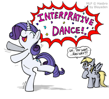 Rarity's Interpretive Dance! by Blayaden