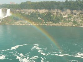 Rainbow at Niagara 2 by TheNerdYouAllLove