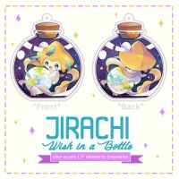 Jirachi Clear Charms by GreyRadian