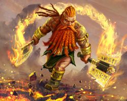 Fire dwarf - an illustration done for Spellweaver by Marina13m