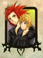 Roxas and Axel by RetkiKosmos