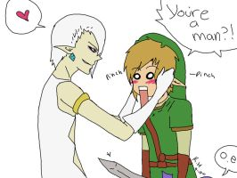 ghirahimxlink YOU'RE A MAN? by Kristen-KH