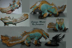 Jinouga Sculpey model by Jassylaw