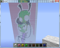 Zim + Gir Minecraft Creation by Pat-The-Kitsune