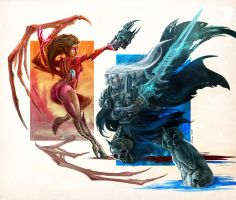 Kerrigan vs Arthas by Methane-911