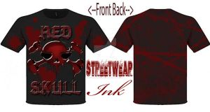 BloodSkull T-Shirt Designed By StreetWear  INK by StreetWearinc