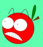 Marvin the Scared Apple by babypixee