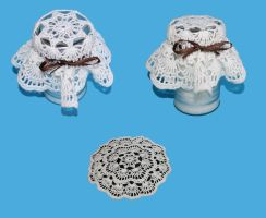 Fan Doily Jar Topper by Hermioneann
