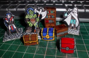 DnD paper pieces by MyGoblinHood