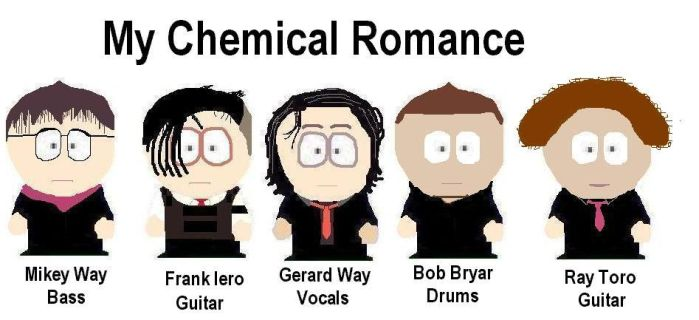 MCR in South Park Style by Shady-Lurker