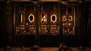 Nixie Clock FULL SCREEN for xwidget by jimking