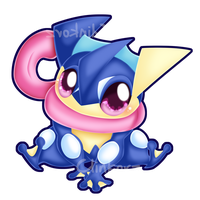 Greninja by Clinkorz