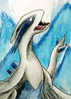 ACEO 104 - Lugia by Clopina
