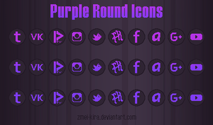 Purple Round Icons by Zmei-Kira