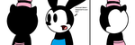 Oswald sees Ortensia without her face by ElMarcosLuckydel96