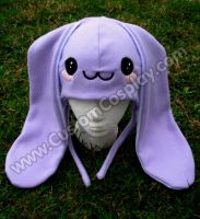 Kawaii Fleece bunny hat by The-Cute-Storm