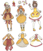 Breakfast Lolita Fashion Set 1 by SqueekyTheBalletRat